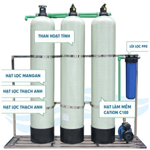 Xử lý nước sinh hoạt Cột lọc Composite